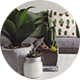 Maison, décoration, fleurs