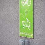 Prise de recharge vélo et scooter électriques au centre commercial de Chamnord
